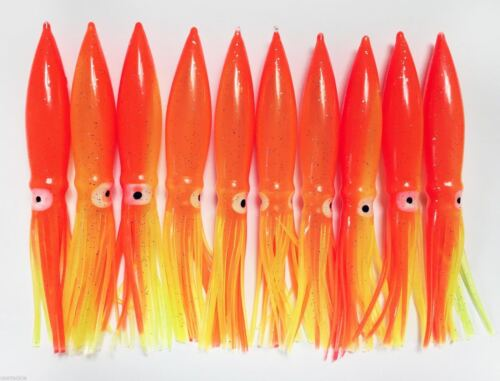 "10//PK COT BULB SQUID 6/"" GREAT FOR DAISY CHAIN BAR RIGS ORANGE//YELLOW"
