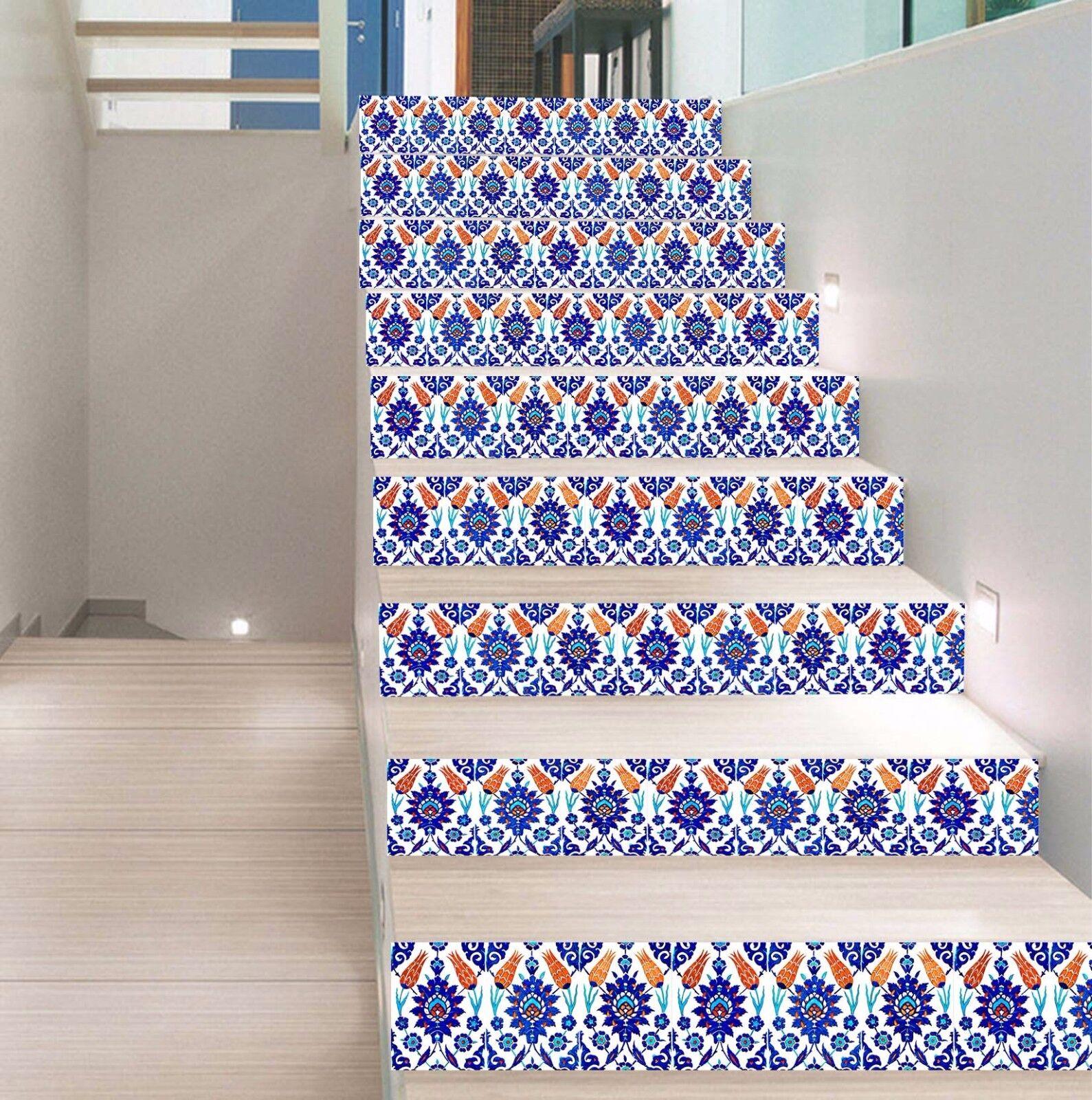 3D Pattern 633 Stair Riser Decoration Photo Mural Vinyl Decal Wallpaper UK Lemon