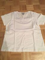 Anthony Richards Womens Embellished Cotton Tunic - White - Size P M (10-12) - Nw