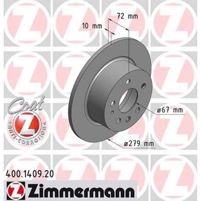 Zimmermann  Bremsscheiben 279mm Bremsbeläge hinten Mercedes //8 W123 W126 W109