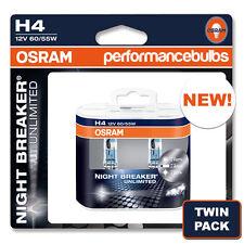 NEW! OSRAM H4 NIGHT BREAKER PLUS NIGHTBREAKER BULBS H4