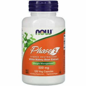Now Foods Phase 2 Starch Neutralizer 500 mg 120 Veg Capsules GMP Quality