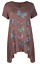 Plus-Size-Ladies-Short-Sleeve-Butterfly-Print-Dip-Hanky-Hem-Casual-T-Shirt-Top thumbnail 17