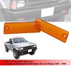 Bumper Lamp Indicator Light Clear White Lens LH RH Fit Mazda B2000 B2200 B2600