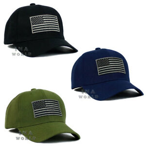 Baseball Cap American Hat Flag Snapback Tactical Operator Flat Plain USA Caps