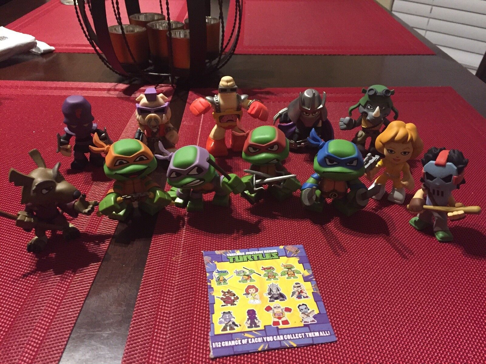 Teenage Mutant Ninja Turtles TEENAGE MUTANT NINJA TURTLES Funko Misterio Minis Set Completo (12 Figuras)