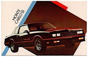 Details about 1986 Chevrolet MONTE CARLO SS Coupe Dealer NOS Promotional  Postcard UNUSED Ex ^
