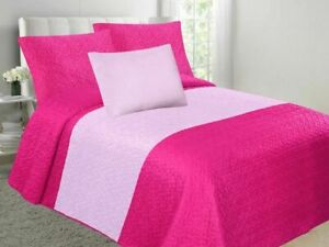 Velvet Embossed Bedspread Soft Quilt 4-Piece Multi-Tone Bed Set CLOSEOUT SALE!!