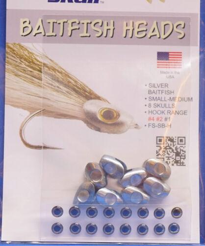 small-medium Baitfish Heads 3 Größen small medium SILVER