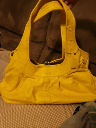 Yellow Coach Leatherware. Purse. Leather, Vintage.
