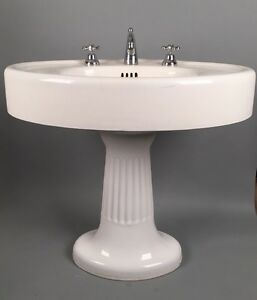 Exceptionnel Image Is Loading STANDARD MFG Antique Pedestal Sink Victorian CAST IRON