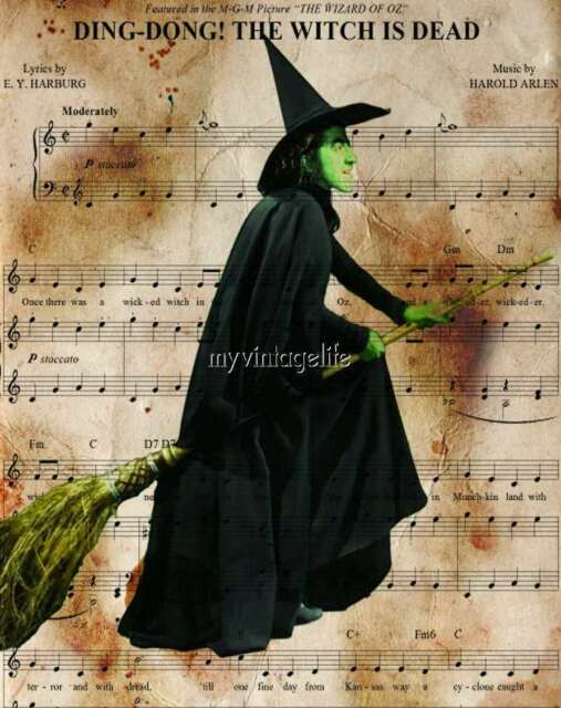 Wizard Wicked Witch of West OZ Quilting Fabric Block