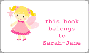 Details about 21 THIS BOOK BELONGS TO FAIRY BLONDE GIRL STICKERS SCHOOL  LABELS FUN BOOK PLATE