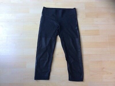 Adidas Climalite Ladies Black Wetlook Mesh Crop Leggings Medium Uk 12-14 Do You Want To Buy Some Chinese Native Produce? Size