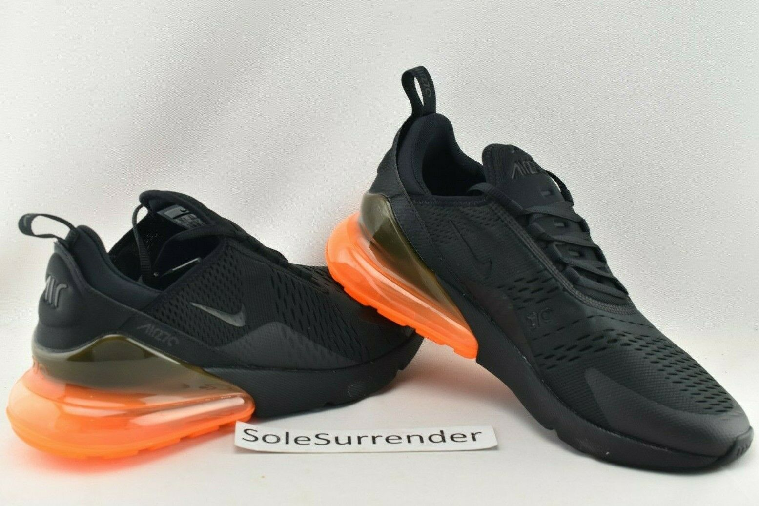 100% authentic 01b8b a3c13 Nike Air Max 270 Black Total Orange SF Giants Halloween Ah8050 008 Sz 10.5