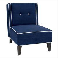 Avenue Six Marina Chair Club Chair Blue Solid Club Chairs In Woven Indigo