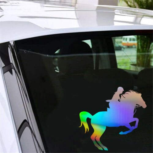 Riding Horse Car Stickers Window Bumper Auto Vehicle Decal Sport Decoration