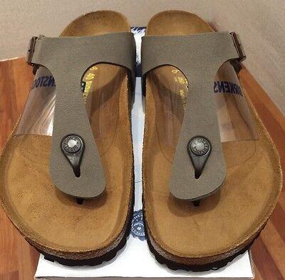 Birkenstock Gizeh 043391 size 39 L8M6 R Stone Color Birko Flor Thong Sandals | eBay