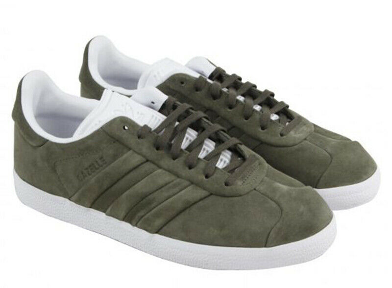 Tamaño de Reino Unido 10.5 - Adidas Originals Gazelle puntada y gire entrenadores-cq2359