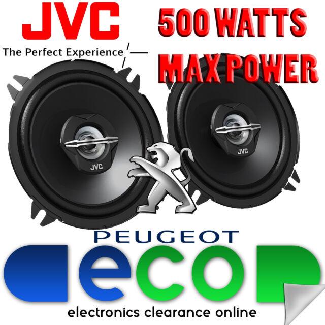 Peugeot 206 1998-2014 JVC 13cm 5.25 Inch 500 Watts 2 Way Rear Side Car Speakers