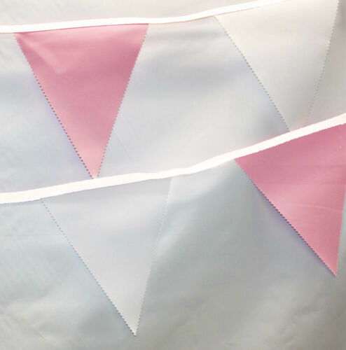 colours with White 10 Decoration garland Wedding Bunting ** 5 and 10 Metres