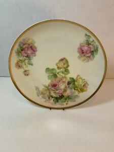 Antique-Hand-Painted-Decorative-Plate-Imperial-Austria-Roses