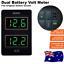 thumbnail 1 - GREEN Dual Battery Volt Meter for Toyota Prado 150 Landcruiser 200 Hilux 2015 ON