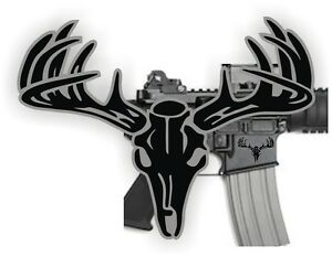 Image Is Loading AR15 Lower BUCK SKULL Decals Magazine Stickers AR