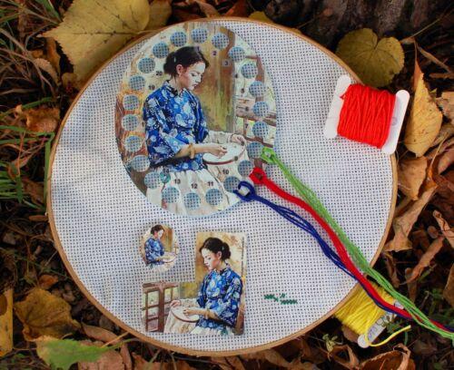 Needle Minder Floss organizer Cross stitch Pattern Helper 3 Items Embroidery set