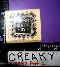 HANDMADE BY RUBBER STAMP GRAPHISTAMPS GRAPHIC STUDIO