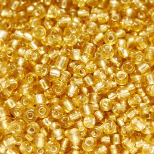 Perles de Rocaille 3mm couleur brun orange transparent trou argenté x