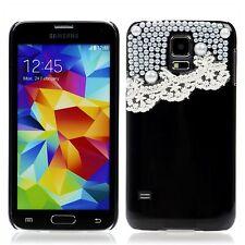 Samsung Galaxy S5 / S5 NEO Hard Case Schutz Cover Hülle Etui Perlen Rüsschen