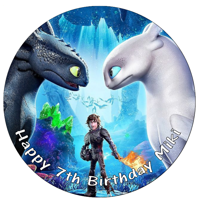 Terrific How To Train Your Dragon Cake Topper Party Edible Icing Sugar 7 5 Personalised Birthday Cards Veneteletsinfo