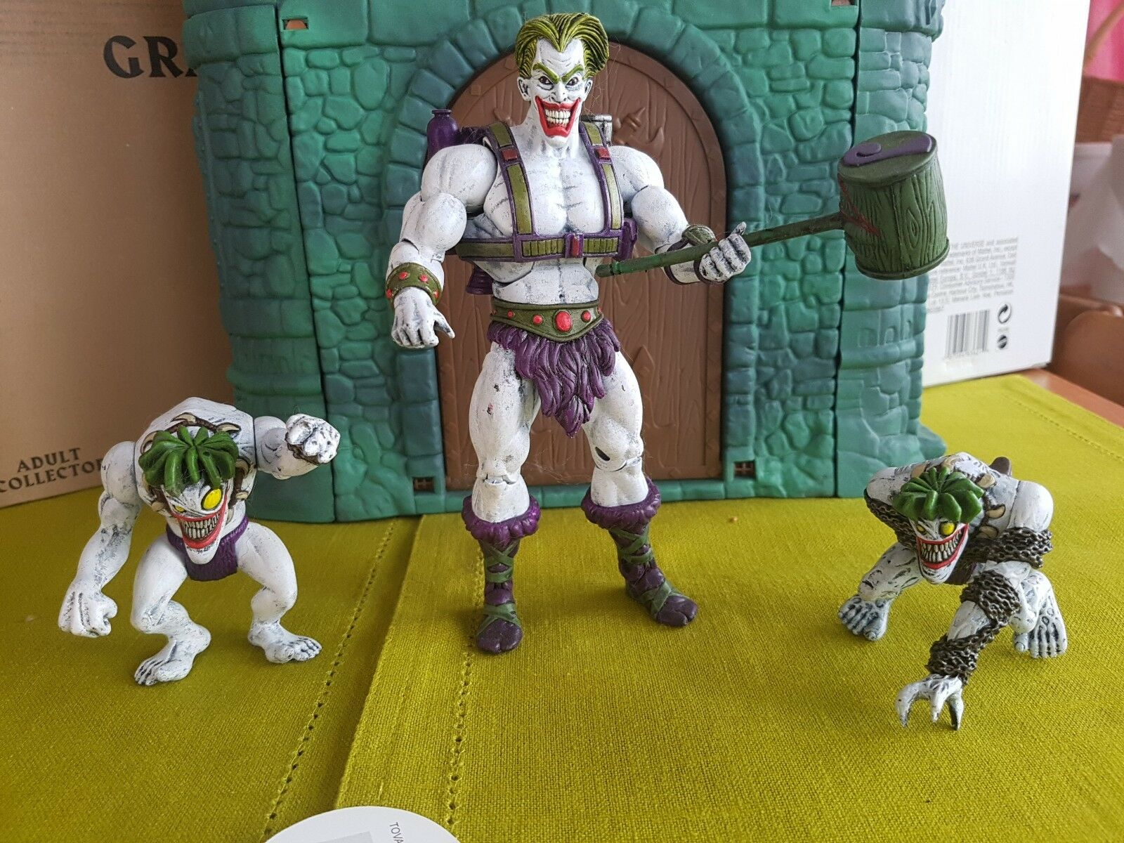 Motuc JOKER and two Bads faces Master of Universe Mattel