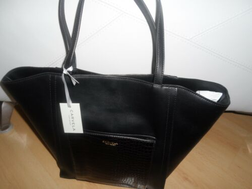 Rrp Carvela £89 Raquel Black Geiger Tote Shopper Bag Kurt ZRxxPvp