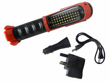 Rechargeable 52 LED Work Light Hand Torch Cordless Inspection Lamp Magnetic