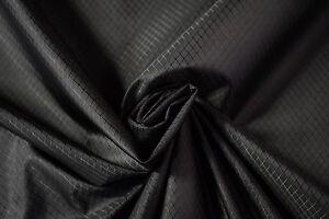 Jet Black Military Coated Diamond Fabric Outdoor 1.9 OZ. Ripstop Waterproof 60