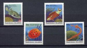 S1920a) Marshall Isl. 1988 MNH Definitives, Fish 4v