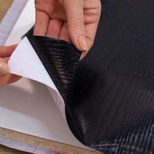 2.1metre X 90cm DC FIX BLACK WOODGRAIN SELF ADHESIVE STICKY BACK PLASTIC VINYL
