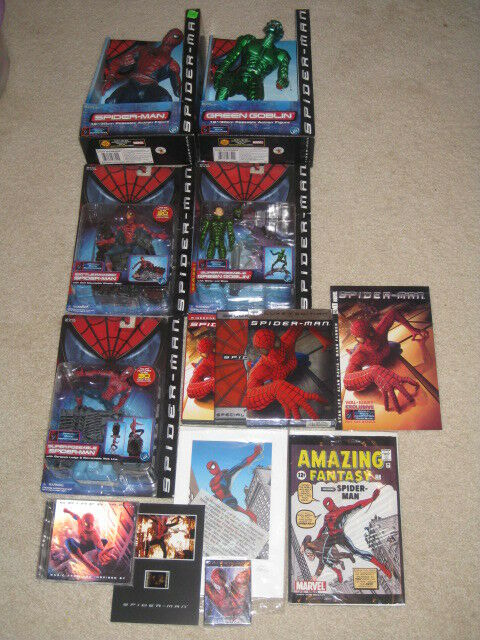 Spider-Man lot film parts 1-3 Marvel Comics   exclusif
