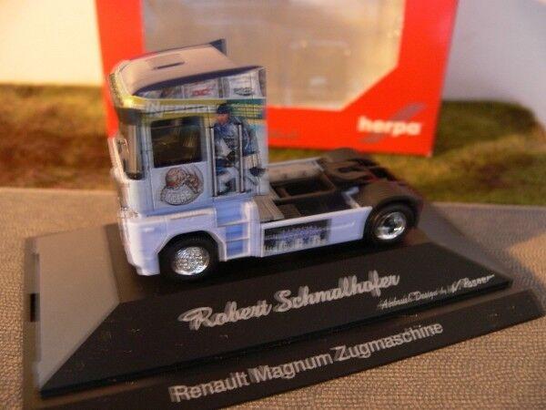 1 87 Herpa RENAULT MAGNUM Straubing Tigre Transporteur étroit Hofer Tracteur...