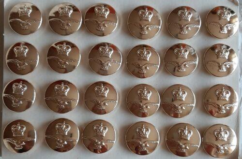 6 X 23mm grandes botones de metal dorado Crestado de caña