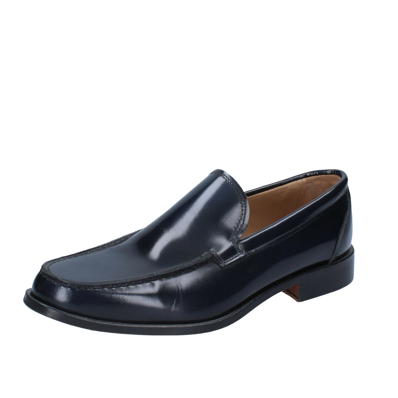 Mens shoes DI MELLA 6 (EU 40) loafers black shiny leather AB925-B