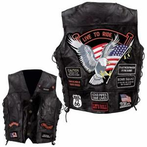 Ride Aigle Route Cuir Grande 66 Country Taille To Bikers En Live Gilet Jacket qY6HYT