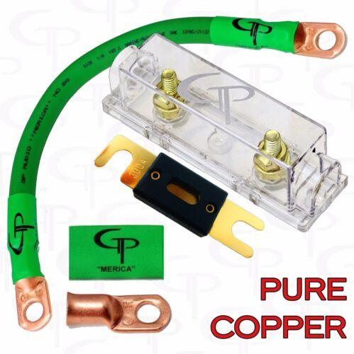 200 AMP ANL Fuse Holder INLINE Block BATTERY INSTALL KIT 1//0 AWG GAUGE COPPER G