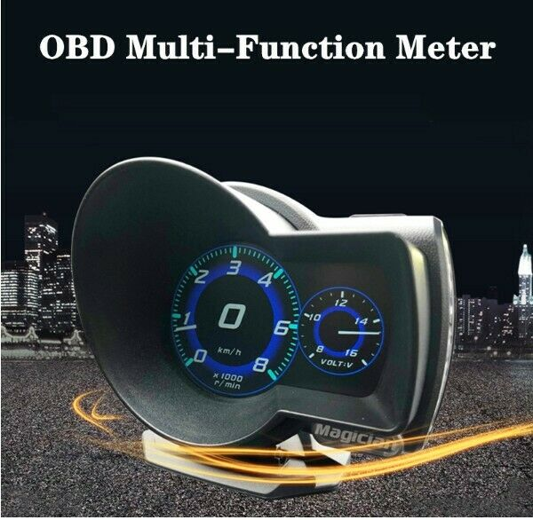 F8 Head-Up Display Gauge Multi-functional LCD Instrument for Vehicles