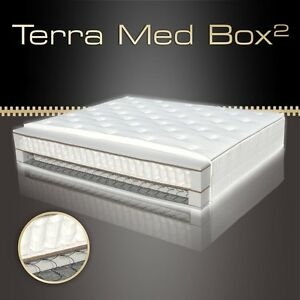 tonnen taschen federkern boxspring matratze 7 zonen terra med box 33cm hoch. Black Bedroom Furniture Sets. Home Design Ideas