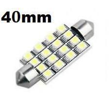 2 White 16 SMD LED Car Dome Number Plate Registration Light Bulbs 40mm 12V DE440