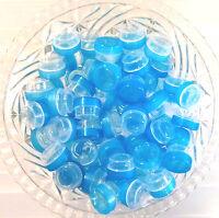100 Clear Jars Transparent Aqua Caps 1/4 Oz Cosmetics Sample 3301 Decojars Usa