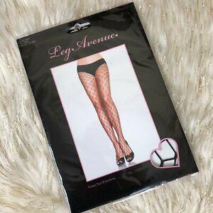 NWT-LEG-AVENUE-SEXY-SEAMLESS-FENCE-FISH-NET-PANTYHOSE-TIGHTS-HOSIERY-Black-9905